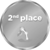 2nd place medal icon